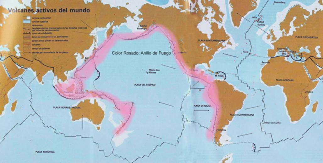 Resultado de imagen para localización principales cinturones volcanicos