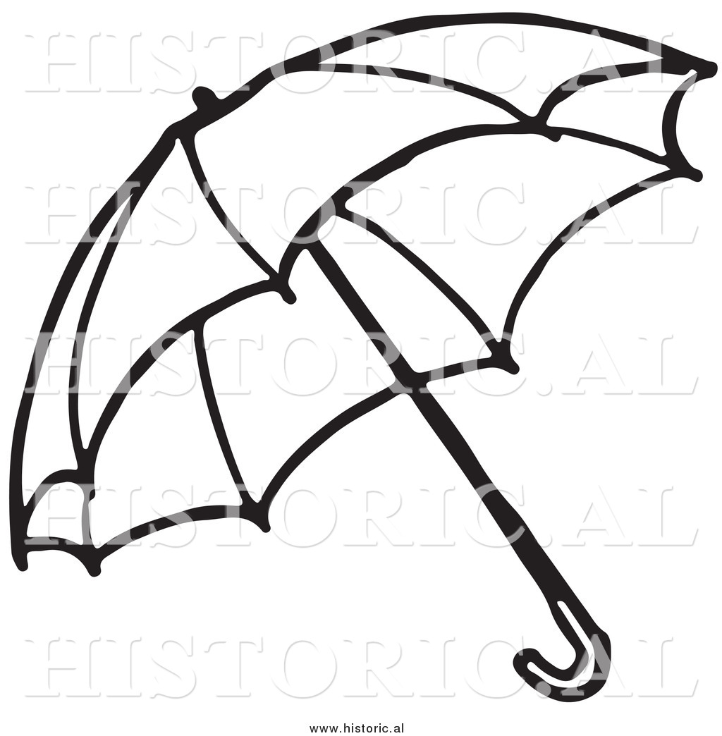 Clipart Of An Opened Umbrella