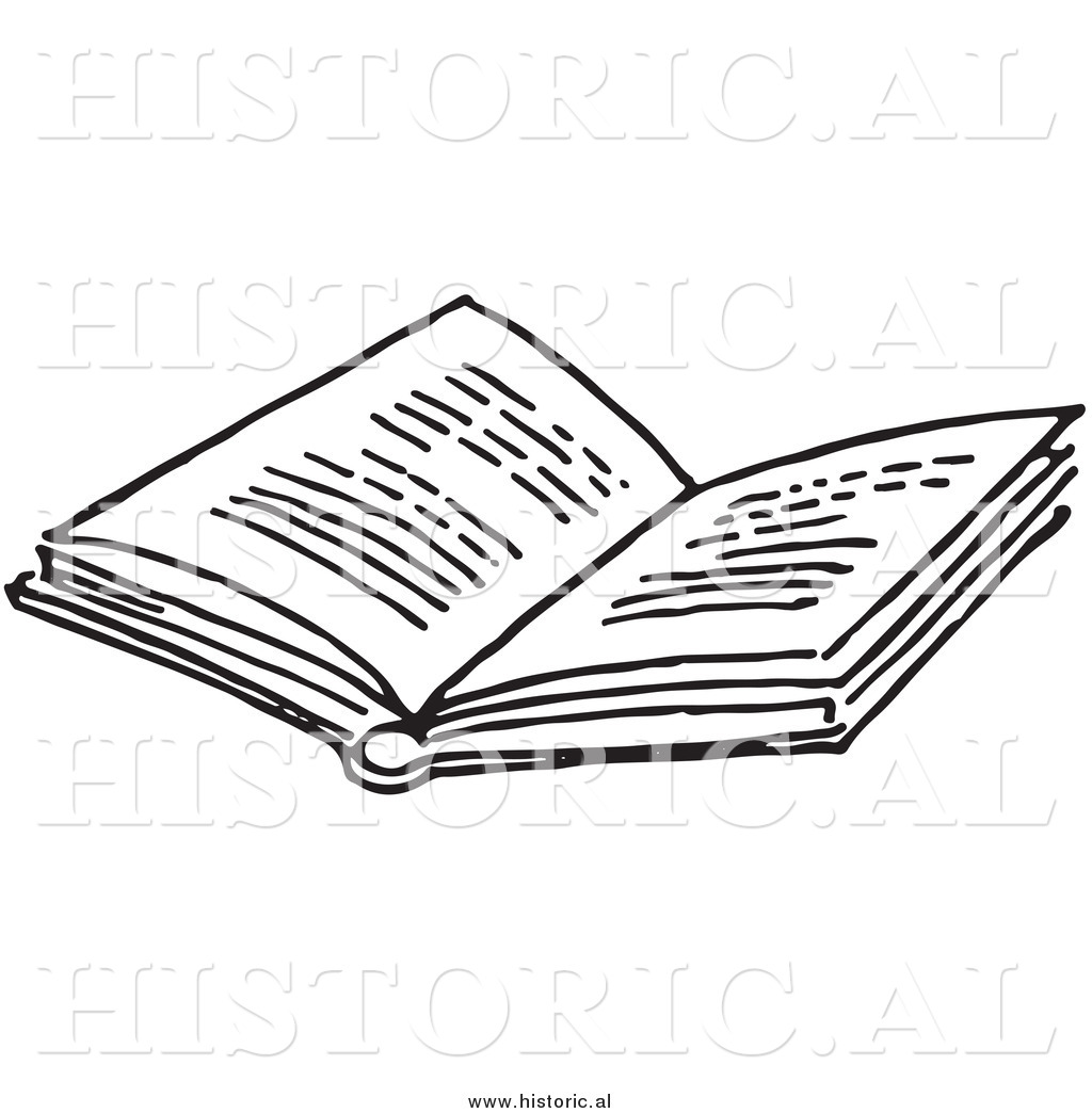 Historical Clipart Of An Opened Book With Text