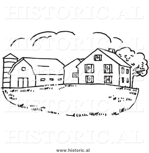 And Black Silo White Clip Art Barn And