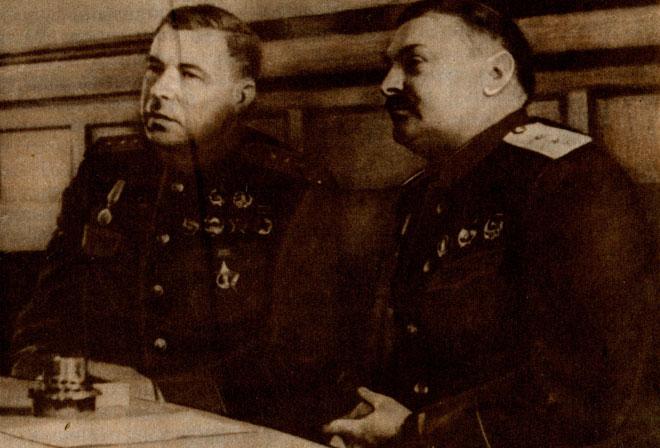 Л. А. Говоров и А. А. Жданов. 1943 г.