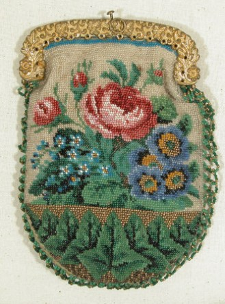 Beaded purse 1850-60, Snowshill Collection