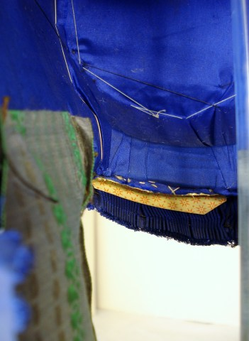 Detail of 1840s lining, Snowshill collection