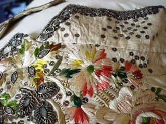 Collar detail, 1770-80 Court Waistcoat, Snowshill Costume Collection