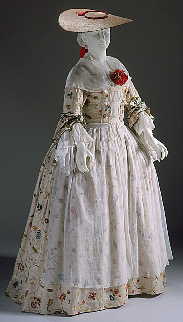 Bergère and robe, 1750-60, Los Angeles County Museum of Art