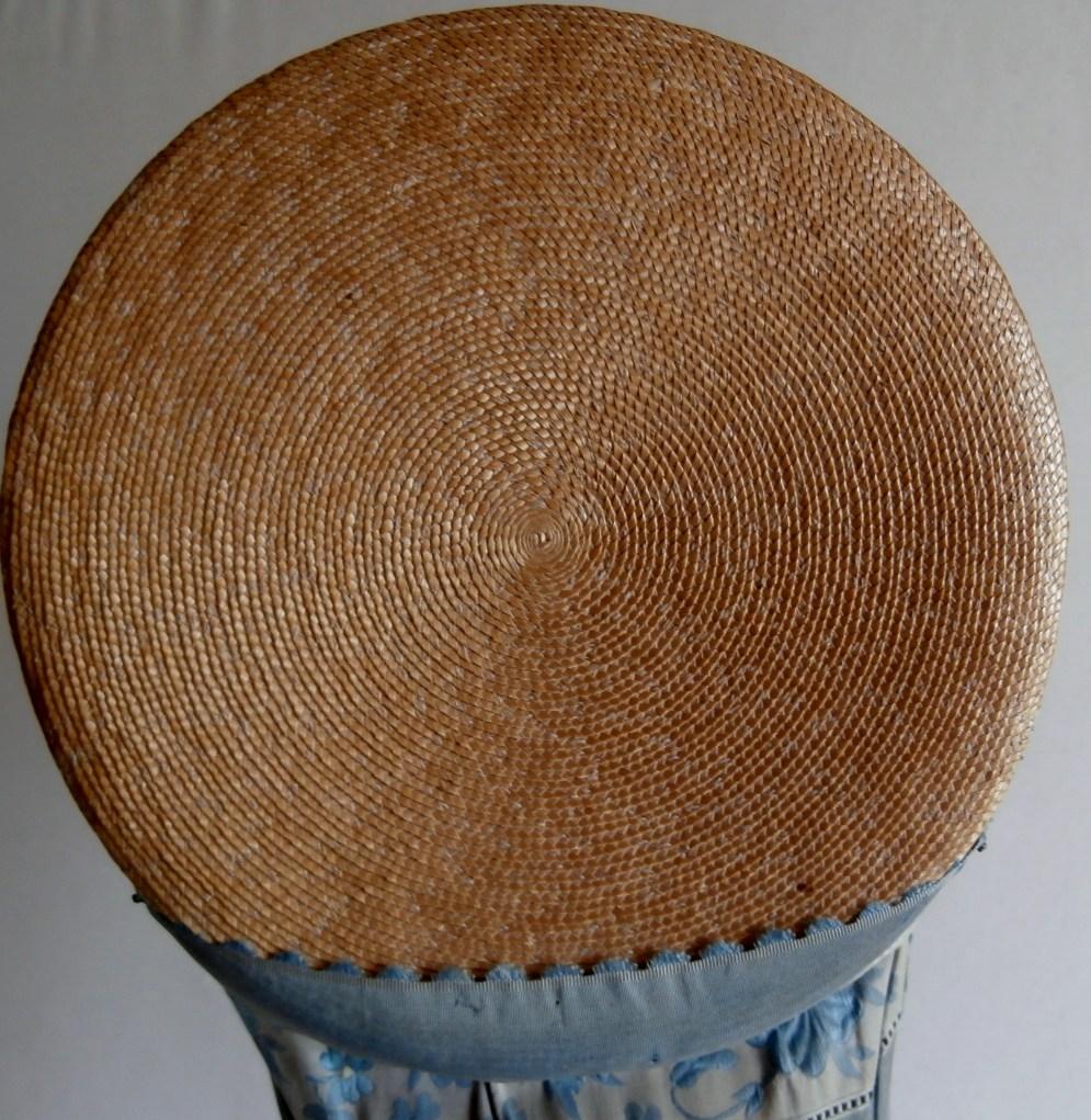 1815 - 20 Poke Bonnet, Crown detail
