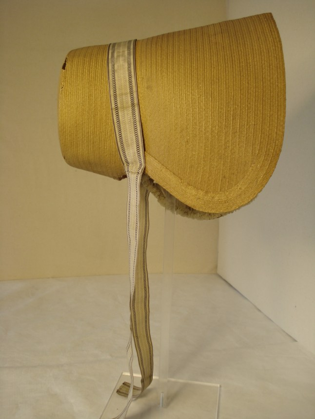 Early 19th C. Poke Bonnet, Snowshill Costume Collection