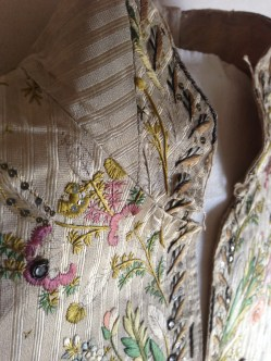 Collar Detail, embroidered Waistcoat, 1775-85