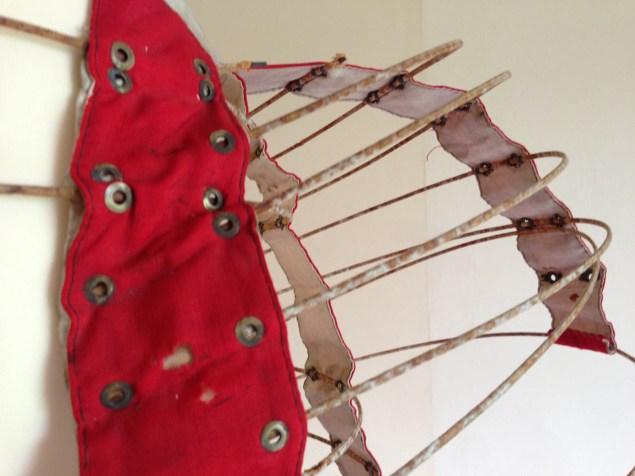 Bustle detail, bustle crinoline, Big Bums & Small Waists exhibition at Berrington Hall, 2014