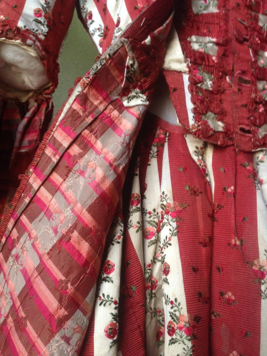 Interior Lining, 1770s sack back dress, 'Gorgeous Georgians' exhibition at Berrington Hall 2014, Charles Paget Wade Collection,