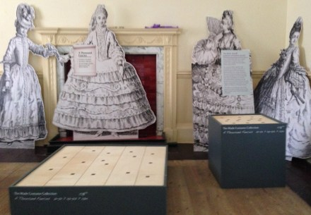 Installation week of the Hats & Bonnets for 'A Thousand Fancies' at Berrington Hall, Until April 30th 2014