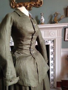 1740's Riding Habit, created by NADFAS. On display at Berrington Hall.