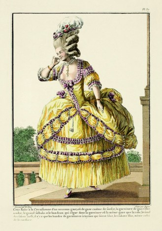 Gallerie des Modes et Costumes, Polonaise dress, 1778, http://thedreamstress.com