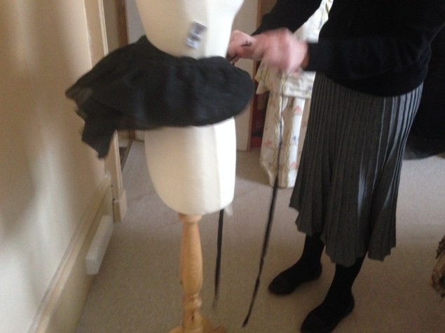 Dressing the Duchess, the 'Day Dress', The Duchess exhibition at Berrington Hall, April 1st - June 31st 2014
