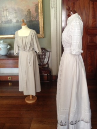 1910, Cotton and Lace Day Dress, Hereford Museum. Professor Nancy Hills for 'Symphony In White' exhibition at Berrington Hall throughout 2014.