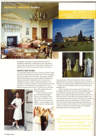 Article featured in Period Ideas Magazine, September 2014.