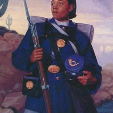 Cathay Williams, female African American soldier