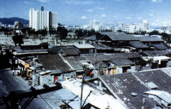 新榮町公共住宅於1970年代的俯瞰影像