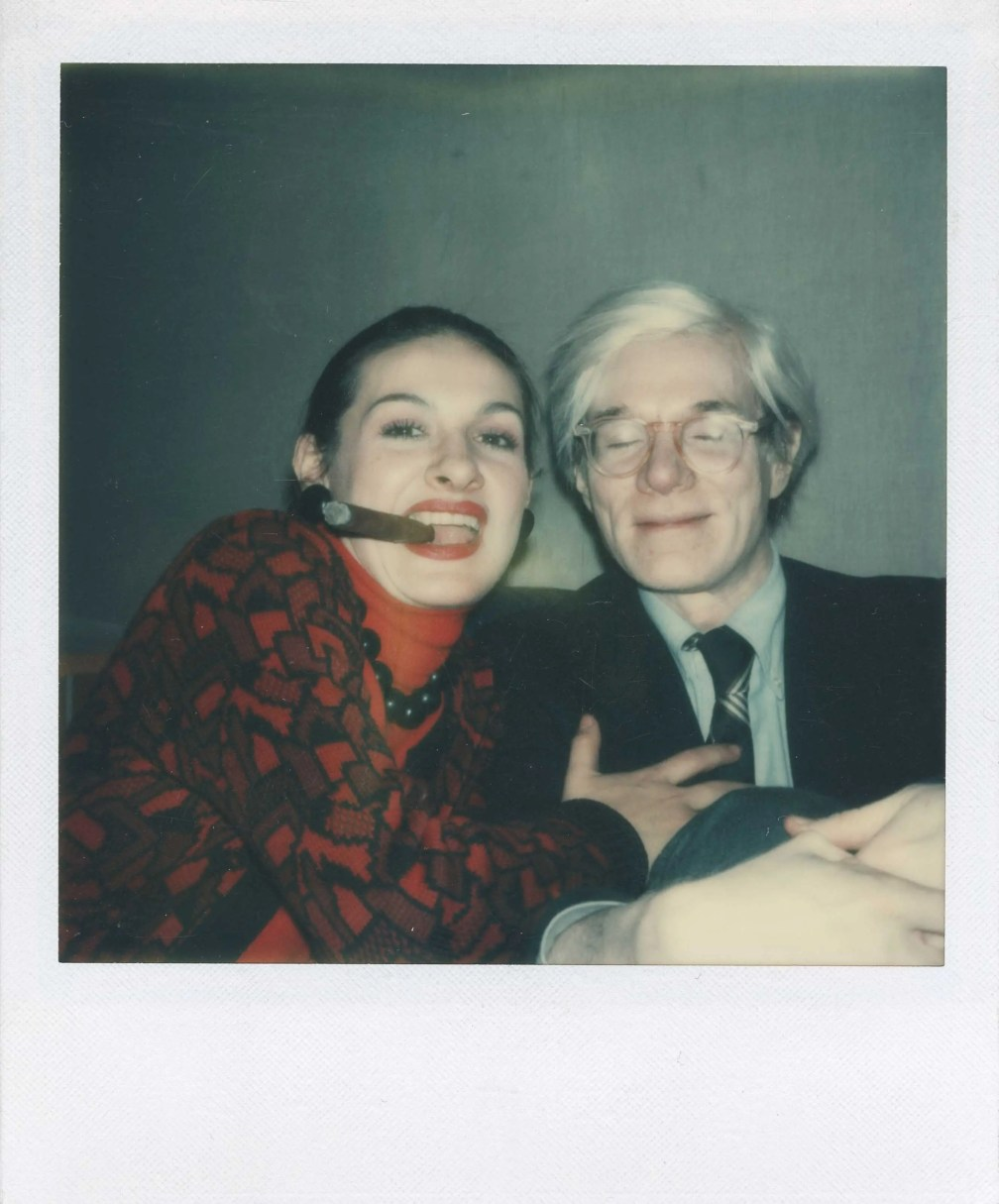 Paloma Picasso and Andy Warhol, circa 1973.
