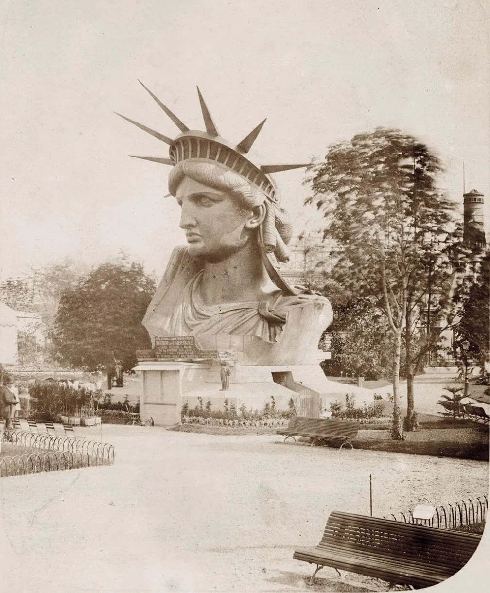 Head of the Statue of Liberty, Paris, 1878