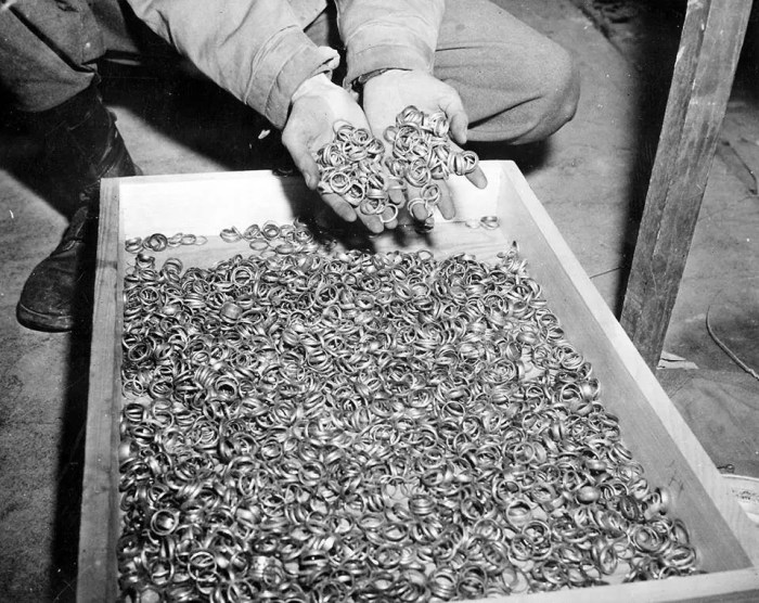 Wedding rings from Holocaust victims at Buchenwald