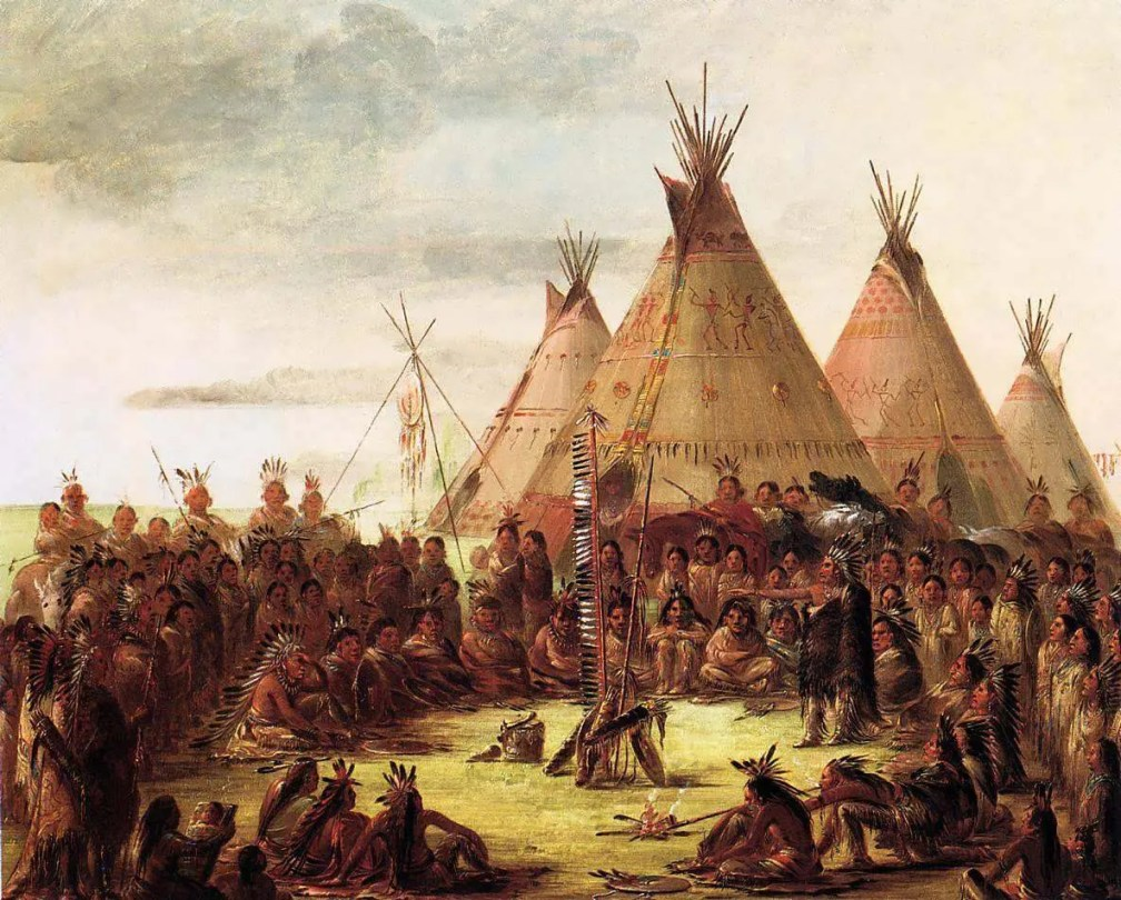Tipis by George Catlin