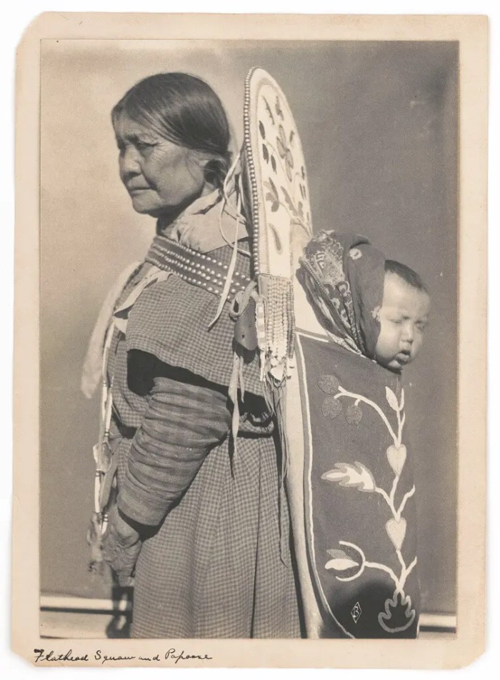 Portrait of a Salish Native American woman, 1907.