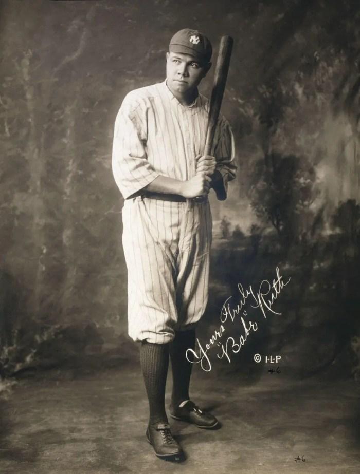 Portrait of baseball star Babe Ruth