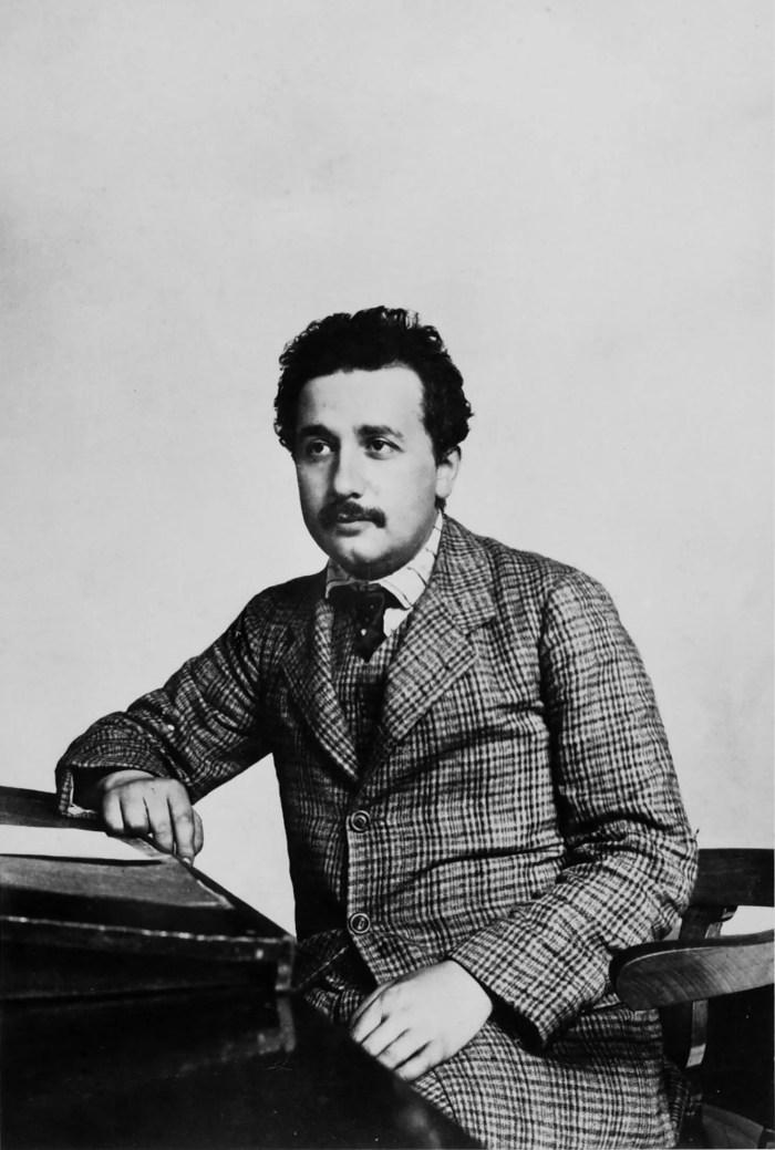 Albert Einstein at the patent office, circa 1905.