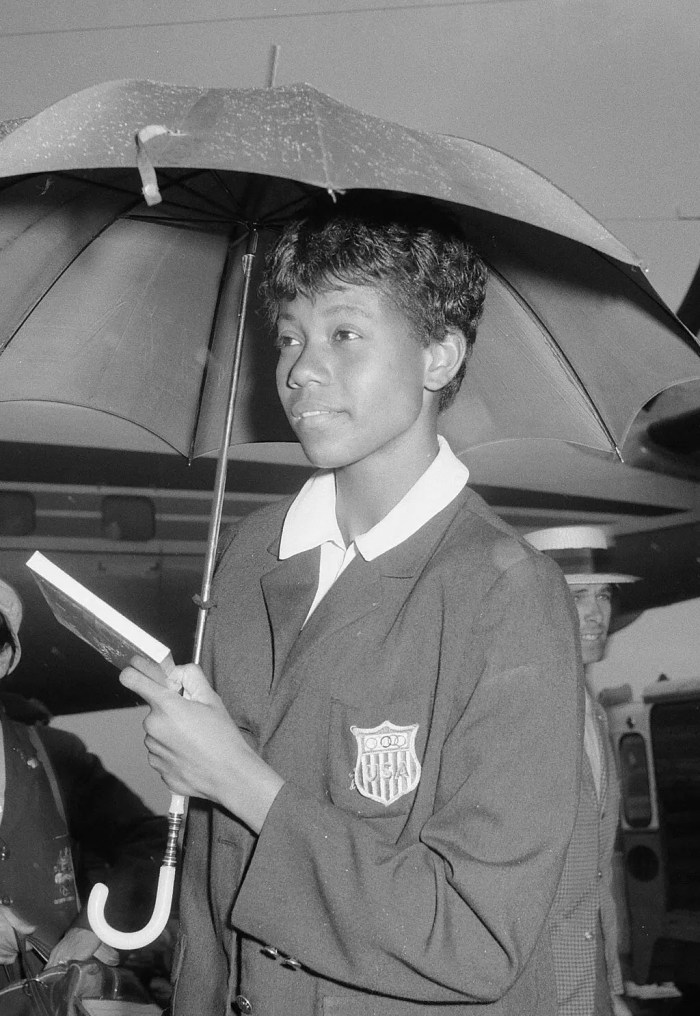 Track and field star Wilma Rudolph