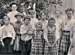Adams Schoolhouse students. Adams School was originally located on Adams Rd. just east of intersection w/Sport Hill