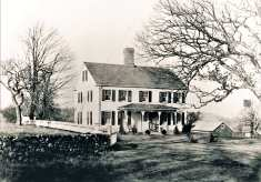 """35 Old Oak. Issac Bennett House. Built by Captain Nathaniel Seeley late 1700's. """"Ye Olde Oak"""" still stands in front."""
