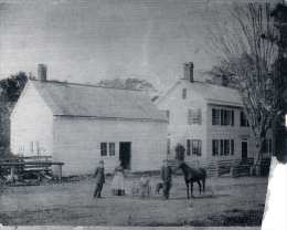 615 Sport Hill Road. Hehemiah DeForrest House c.1770. Later Adams store & tavern