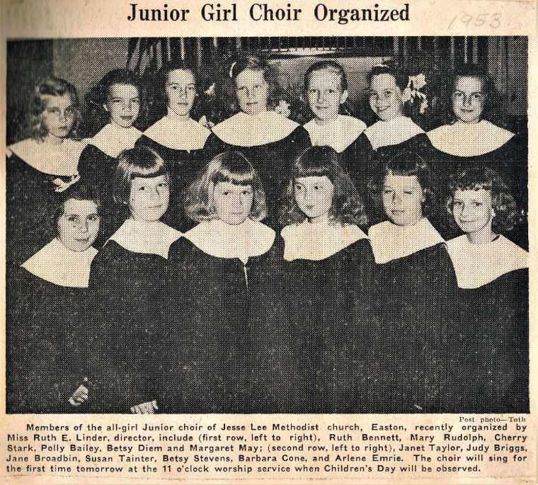 Easton HSE Jesse Lee Girls choir 1953