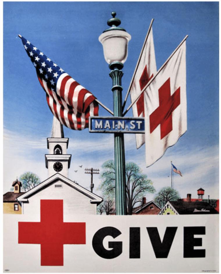 easton hse stevan dohanos paints red cross poster 1948 (1)