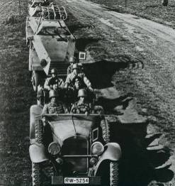 German motorized forces on maneuvers in Russia, 1935. Training in Russia due to the Treaty of Versailles.