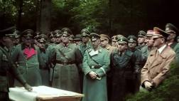 Rundstedt , Himmler, and Hitler in color.