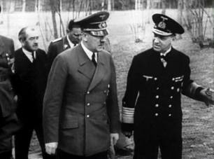 Hitler and Admiral Raedar.