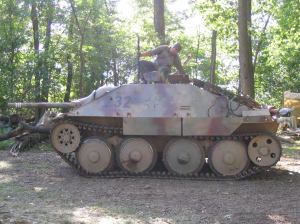 Hetzer of the re-enactors of the 2nd Panzer Division located in the United States.