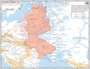 German advances during the opening phases of Operation Barbarossa.