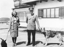 Hitler in 1942 with his long-time mistress, Eva Braun, whom he married on 29 April 1945.
