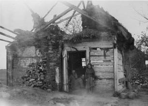 Belarus or Ukraine farmhouse destroyed during the German invasion in 1941.