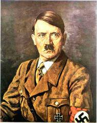 Painting of Adolf Hitler