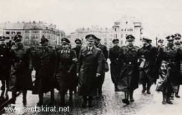 Hitler on the main bridge in Maribor, Slovenia 1941.