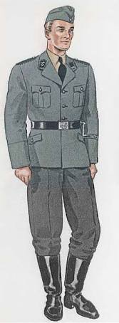 A grey SS uniform.