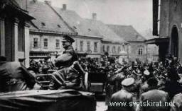 Hitler in Maribor, Slovenia. 1941.