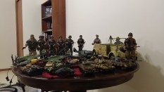 A view of some of the toy items in the collection. After getting one as a gift, I now collect toys with my German Memorabilia collection. Most are from closed companies who made them.