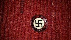 Seller/Item 005: Nazi Party Membership Pin – Unknown Source – Replica – $10USD plus Shipping/Insurance