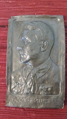 Seller/Item 01: Adolf Hitler Plaque - Front $250 USD/OBO plus Shipping.