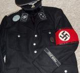 Stabswacht Berlin SS-Scharfhr. Bluse u. Schirmmütz
